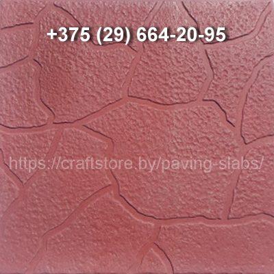 Тротуарная плитка Черепашка красная