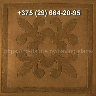 Тротуарная плитка Краков коричневая